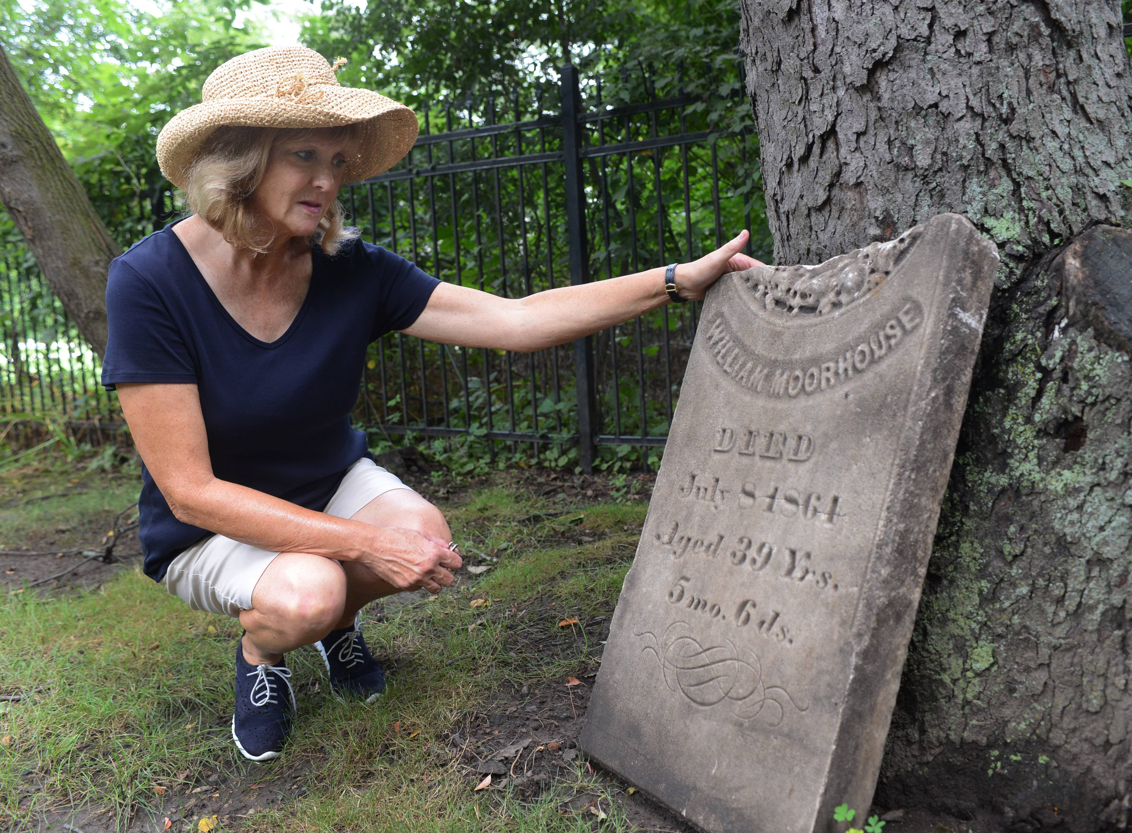 Headstone found in Arlington Heights yard returned to Inverness cemetery