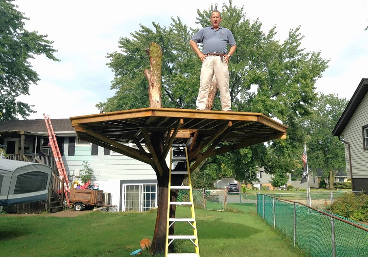 Christopher Mooney Of Schaumburg, Who Sought To Have His  Larger Than Permitted Treehouse