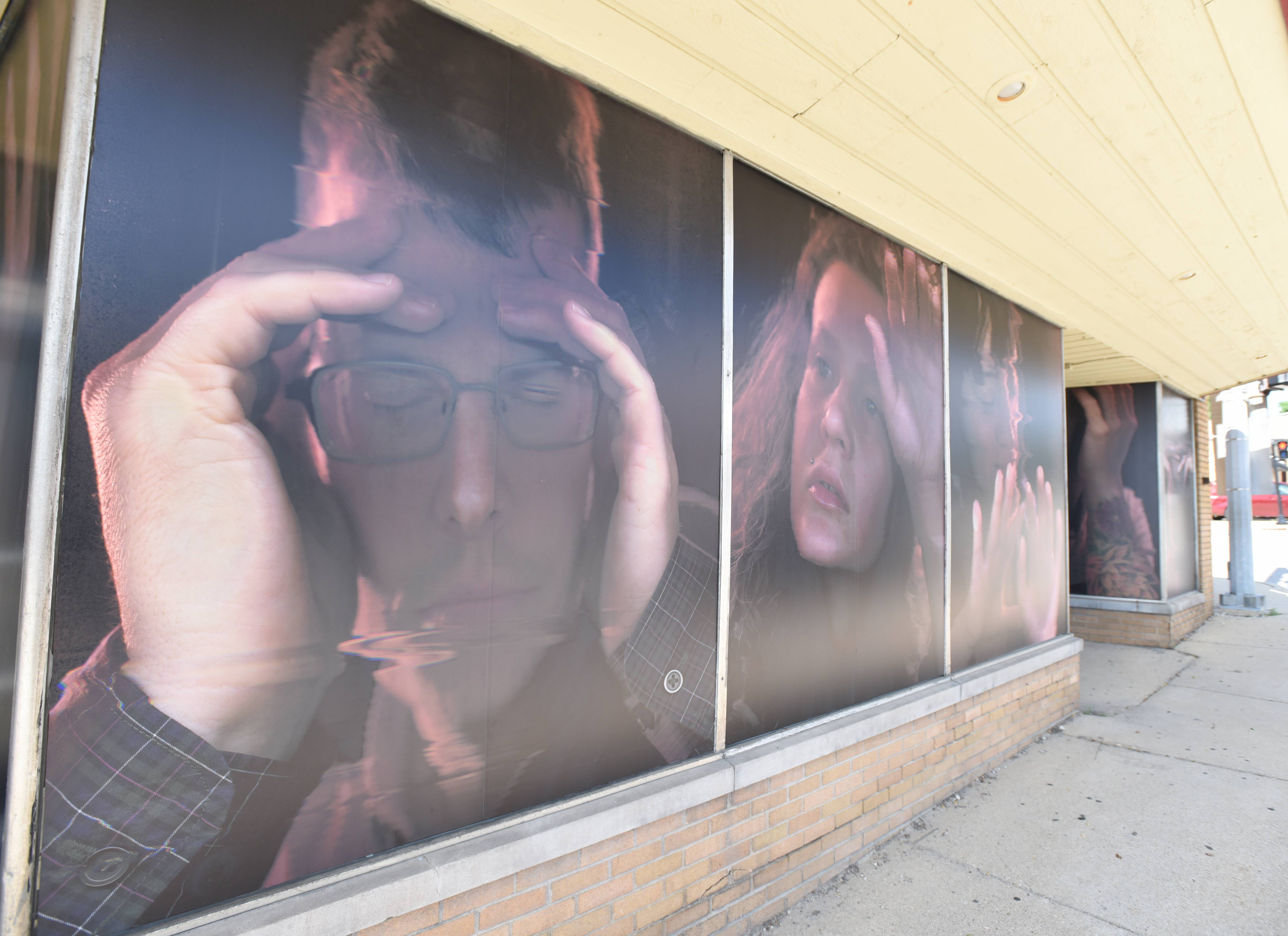 A temporary art installation can be found on the windows of the building at 103 W. Washington St. in downtown West Chicago. The city's cultural arts commission is asking for residents' help in creating an inventory of public art.