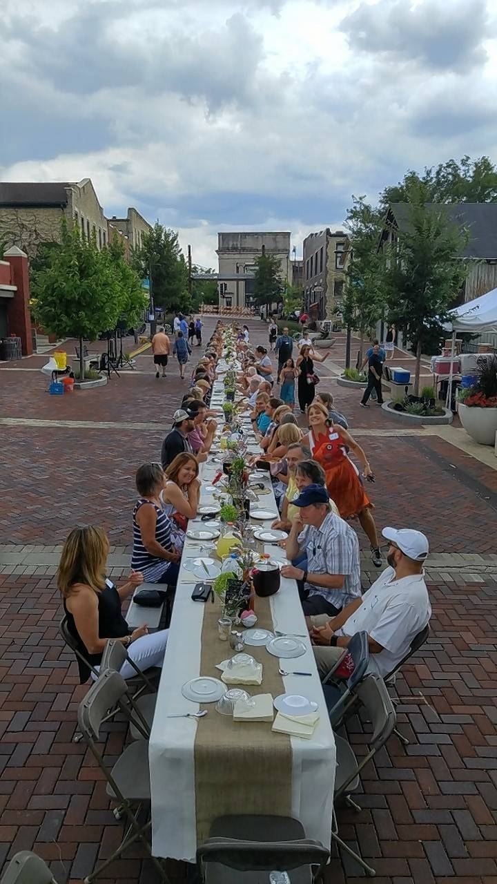 "Batavia's first ""Farm-to-Table"" Community Dinner was held Sunday on River Street and highlighted area farms through locally sourced ingredients. Tickets for the event sold out within a week of going on sale."