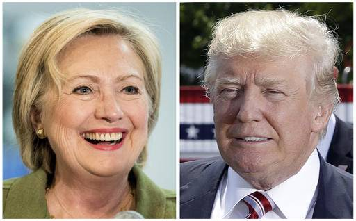 Democratic presidential candidate Hillary Clinton, left, and Republican presidential candidate Donal Trump in these 2016 file photos. Clinton and Trump offer voters distinct choices this fall on issues that shape everyday lives. Actual ideas are in play, as difficult as it can be to see them through the surreal layers of the 2016 presidential campaign. But decisions to be made by President Trump or President Clinton are going to matter to home and hearth. (AP Photo)