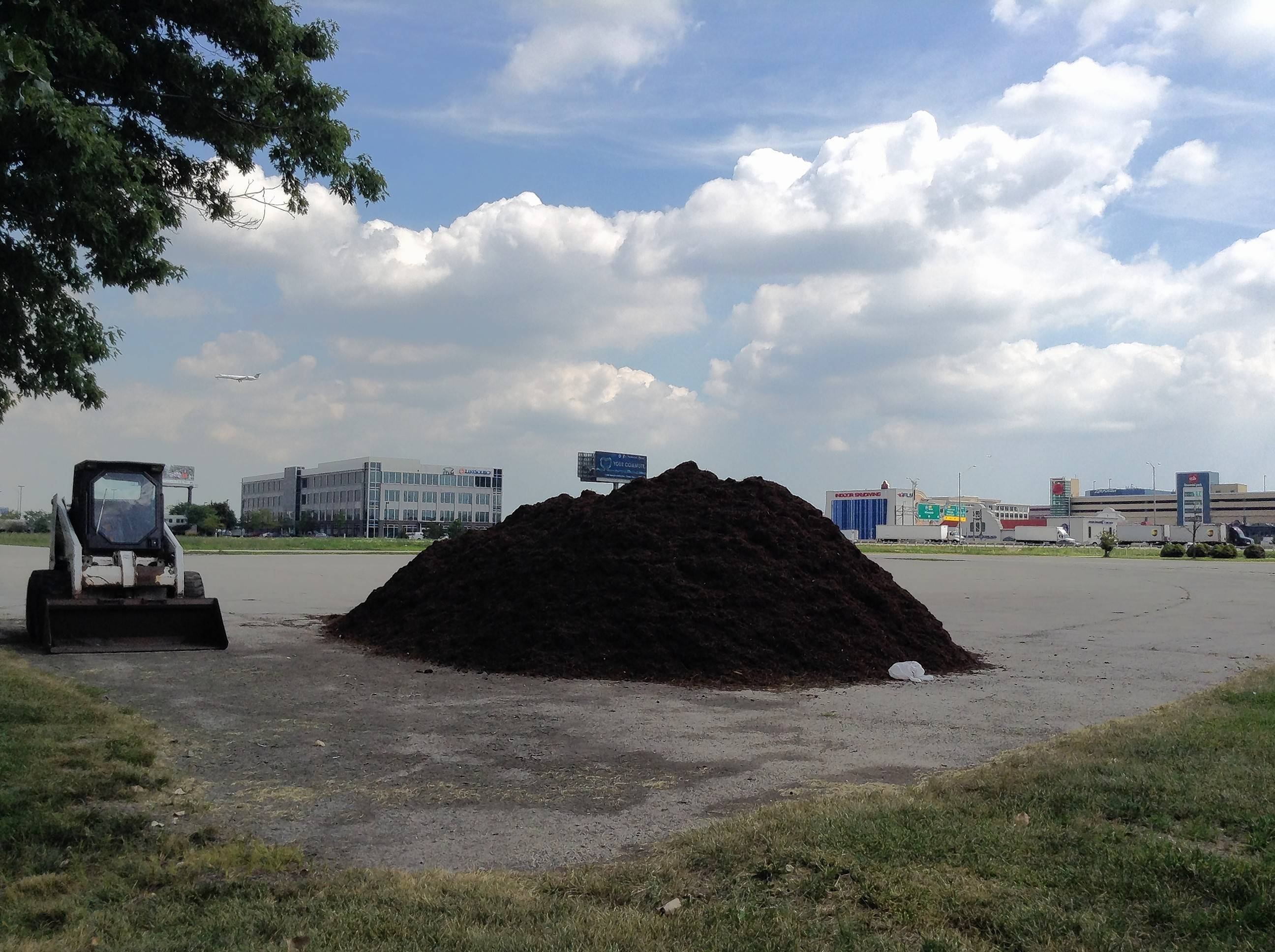 A pile of dirt and tractor sit on land where a $55 million minor league baseball stadium is planned in Rosemont. Construction could begin in the next 60 days, officials said.