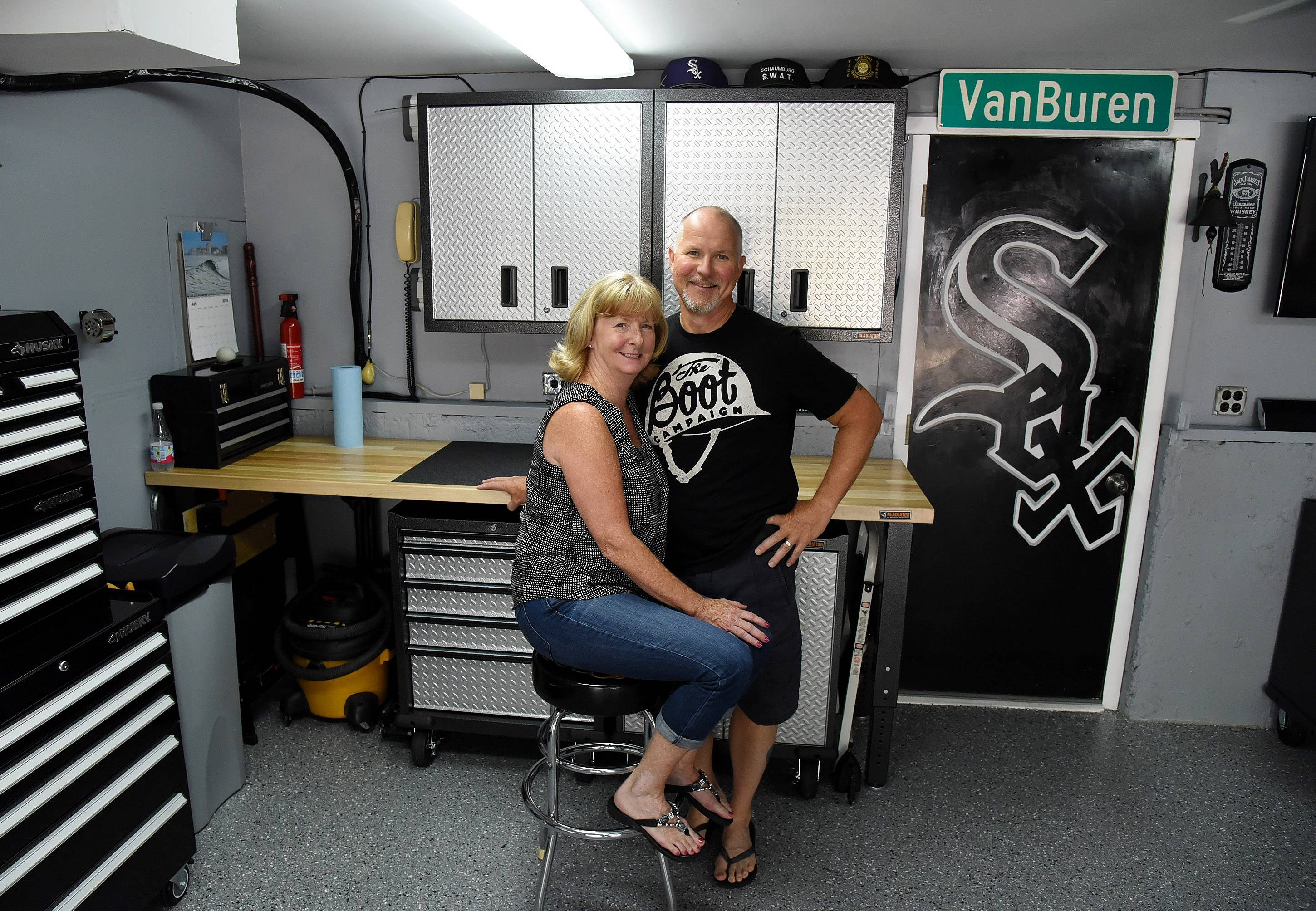 Rob and Liz Ruisz of Schaumburg are the recipients of this summer's Garage Makeover, an annual contest sponsored by the Daily Herald and Garage Store.