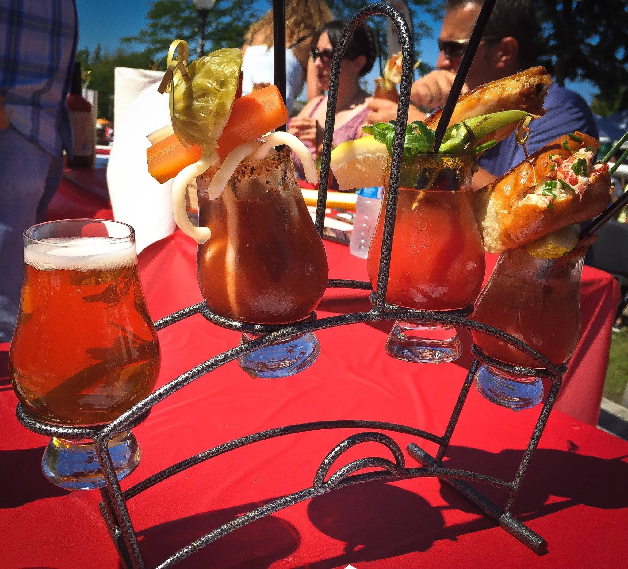 "Fifteen competitors vied recently for the title of ""Best Bloody Mary"" at Highwood's Seventh Annual Bloody Mary Fest."