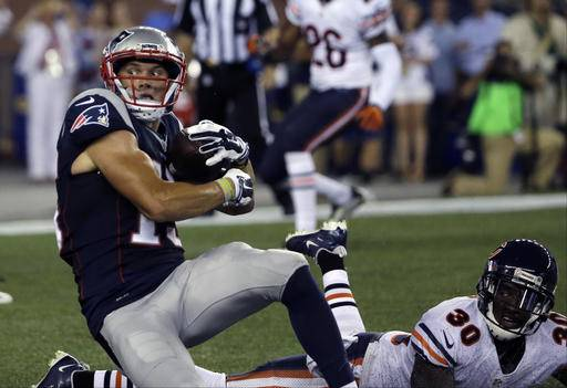 NFL Jerseys Cheap - Brady out, Garoppolo throws TD as Pats beat Bears 23-22