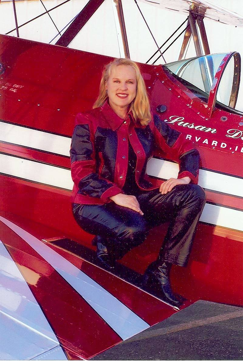 "Susan Dacy, a pilot from Harvard, Illinois, will fly a Super Stearman biplane called ""Big Red"" as part of the 2016 Chicago Air and Water Show on Saturday and Sunday."