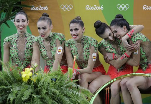 Russia rallies for gold in rhythmic gymnastics group final