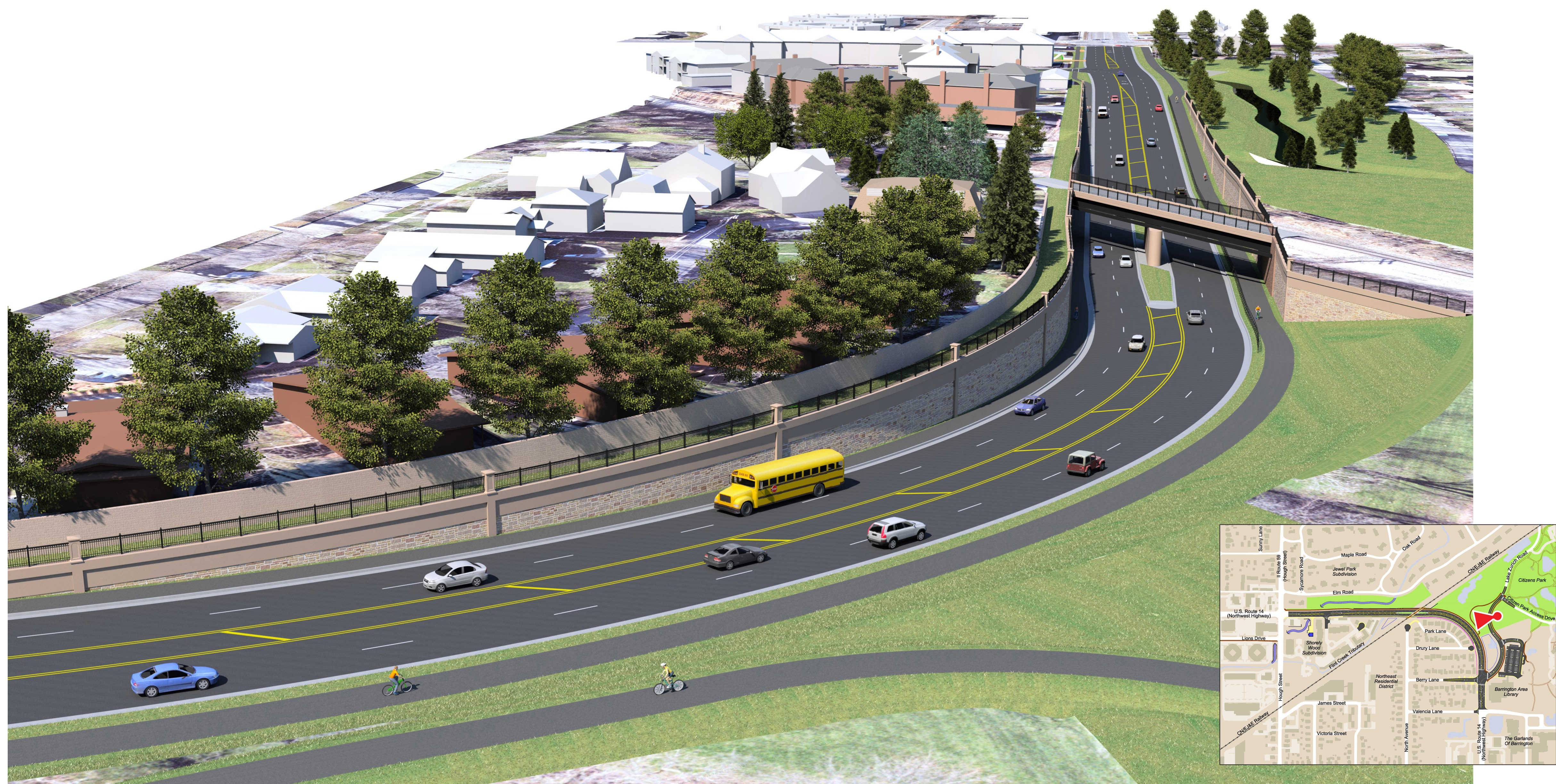 Barrington gets key funding for Route 14 underpass