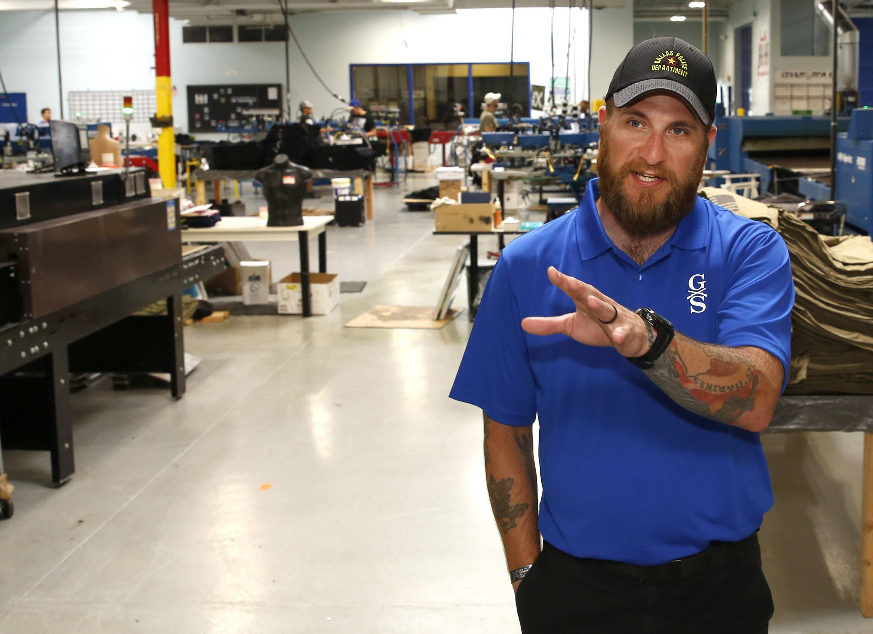 Ex-Marine Tim Jensen started folding shirts at Grunt Style nearly four years ago and now is chief operating officer of the Carol Stream apparel company, where 60 percent of the employees are military veterans.