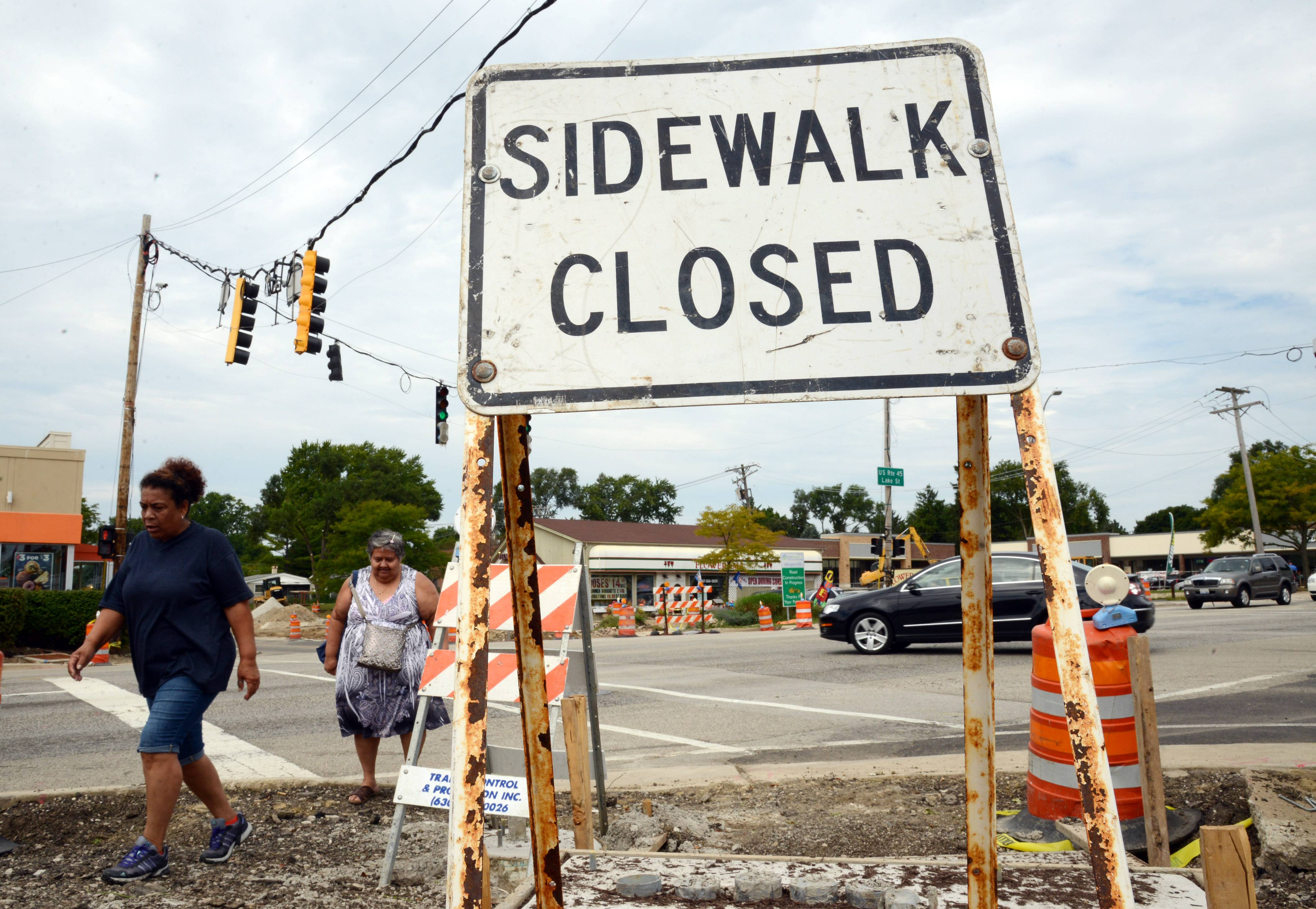 Route 45 being repaved in Mundelein, so expect delays