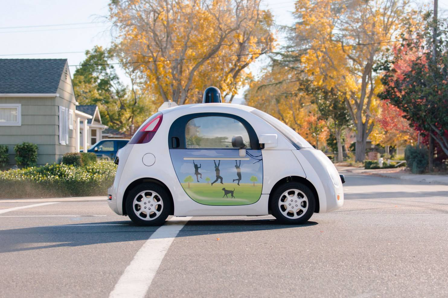 MUST CREDIT: Google If partially or fully automated vehicles can help risky drivers drive better, we may be able to achieve the same reductions in traffic fatalities the researchers observed during the recession without, you know, actually having to go through a recession.