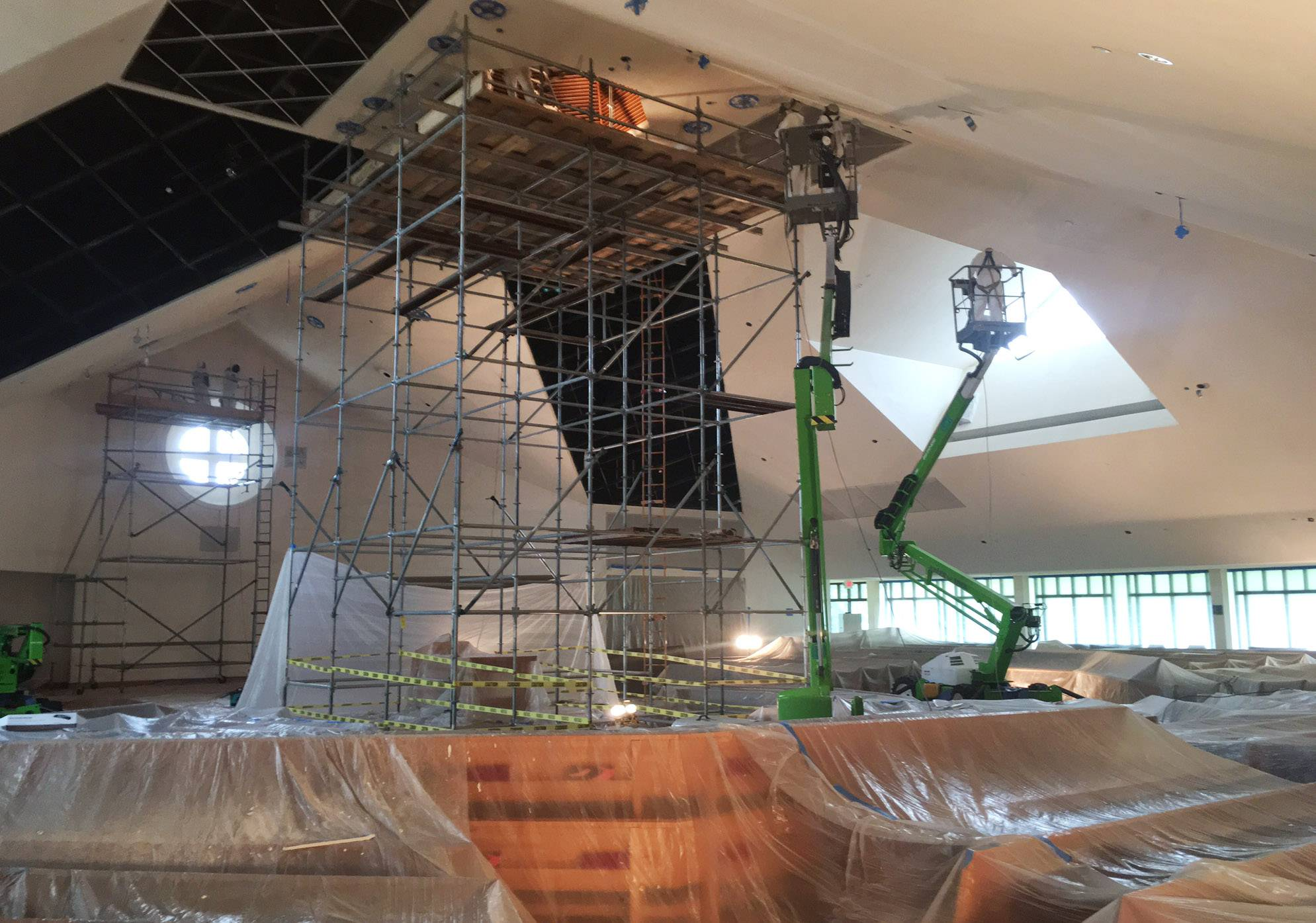 Extensive restoration work is occurring at St. Paul the Apostle Church in Gurnee.