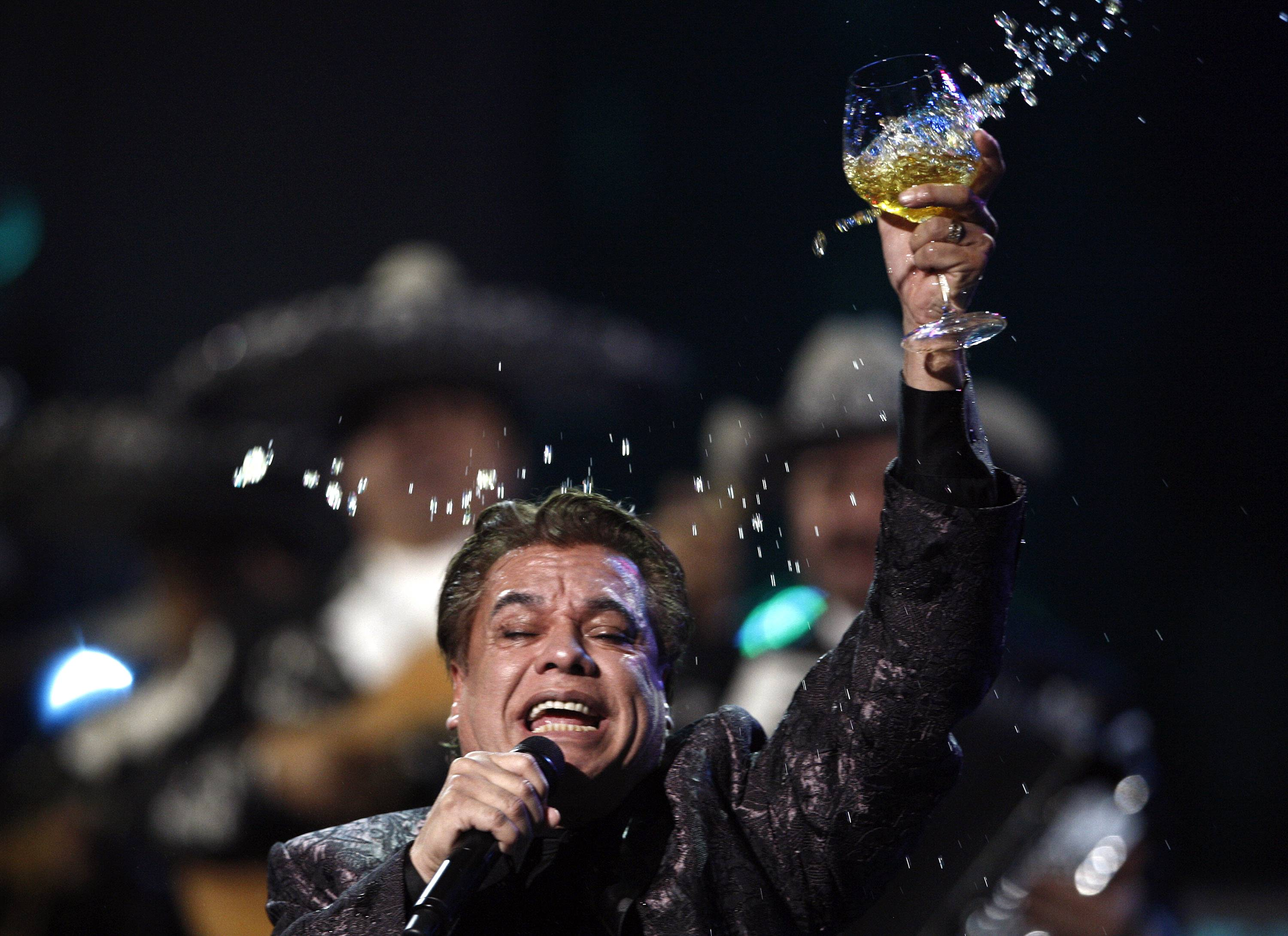 Juan Gabriel performs at the 10th Annual Latin Grammy Awards in November 2009 in Las Vegas. Representatives of Juan Gabriel reported that he died Sunday.