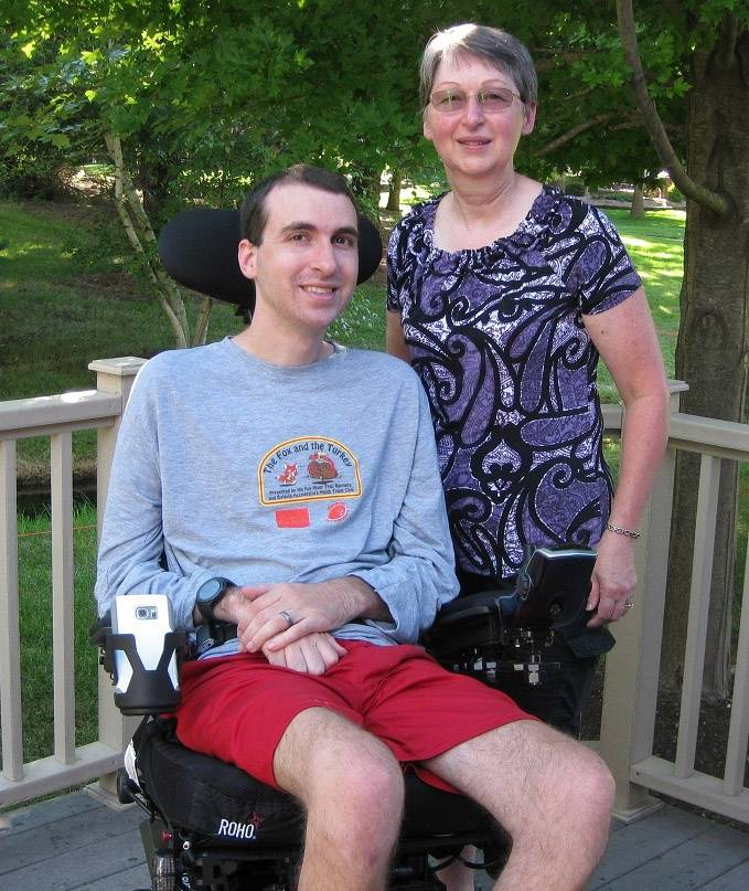 After being recently diagnosed with ALS, Dan Trout of Batavia, with his mom, Doris Trout, is learning about the difficulties of getting around in a wheelchair.