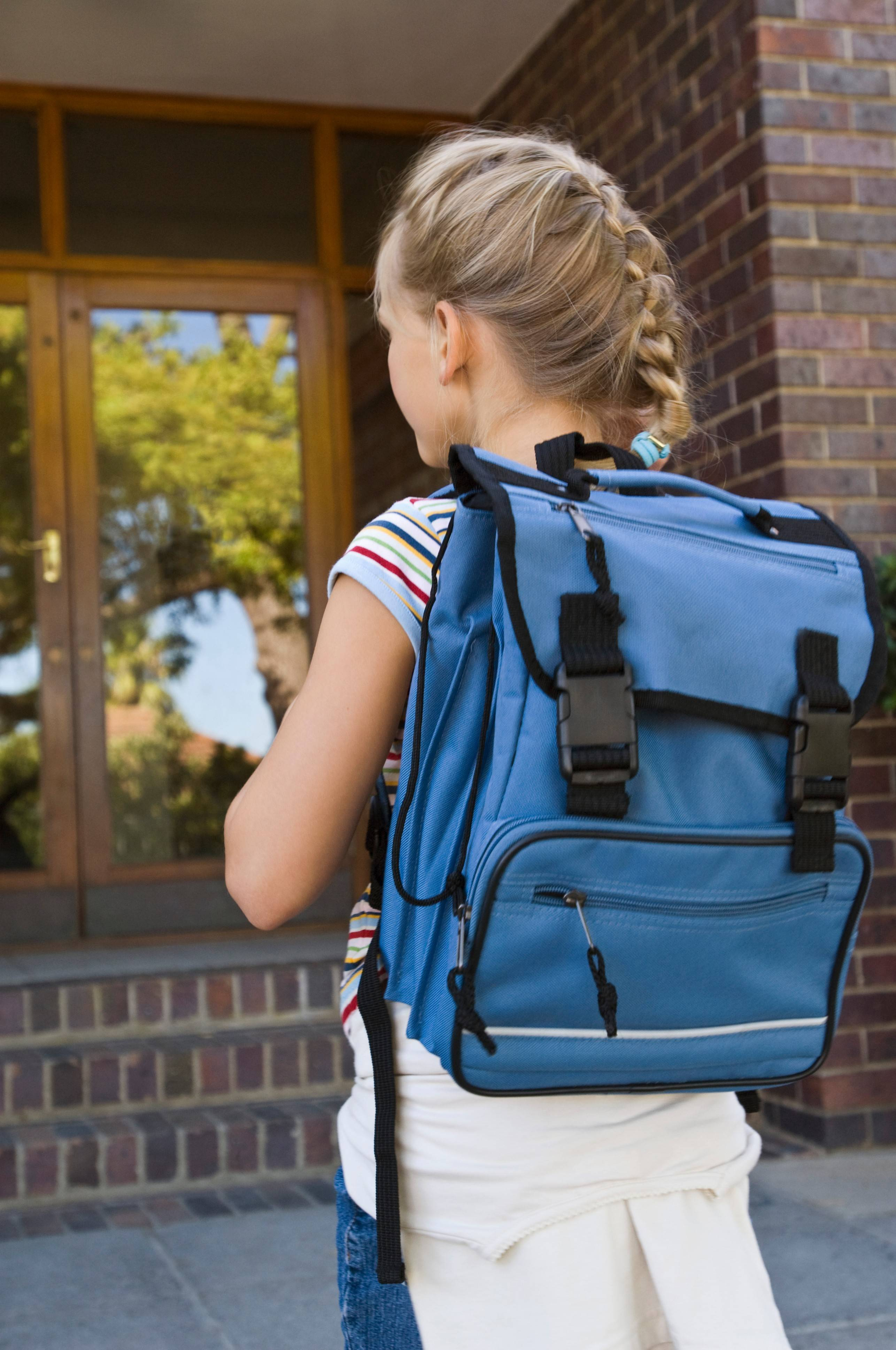 Backpacks should not weigh more than 10 to 20 percent of a child's body weight.