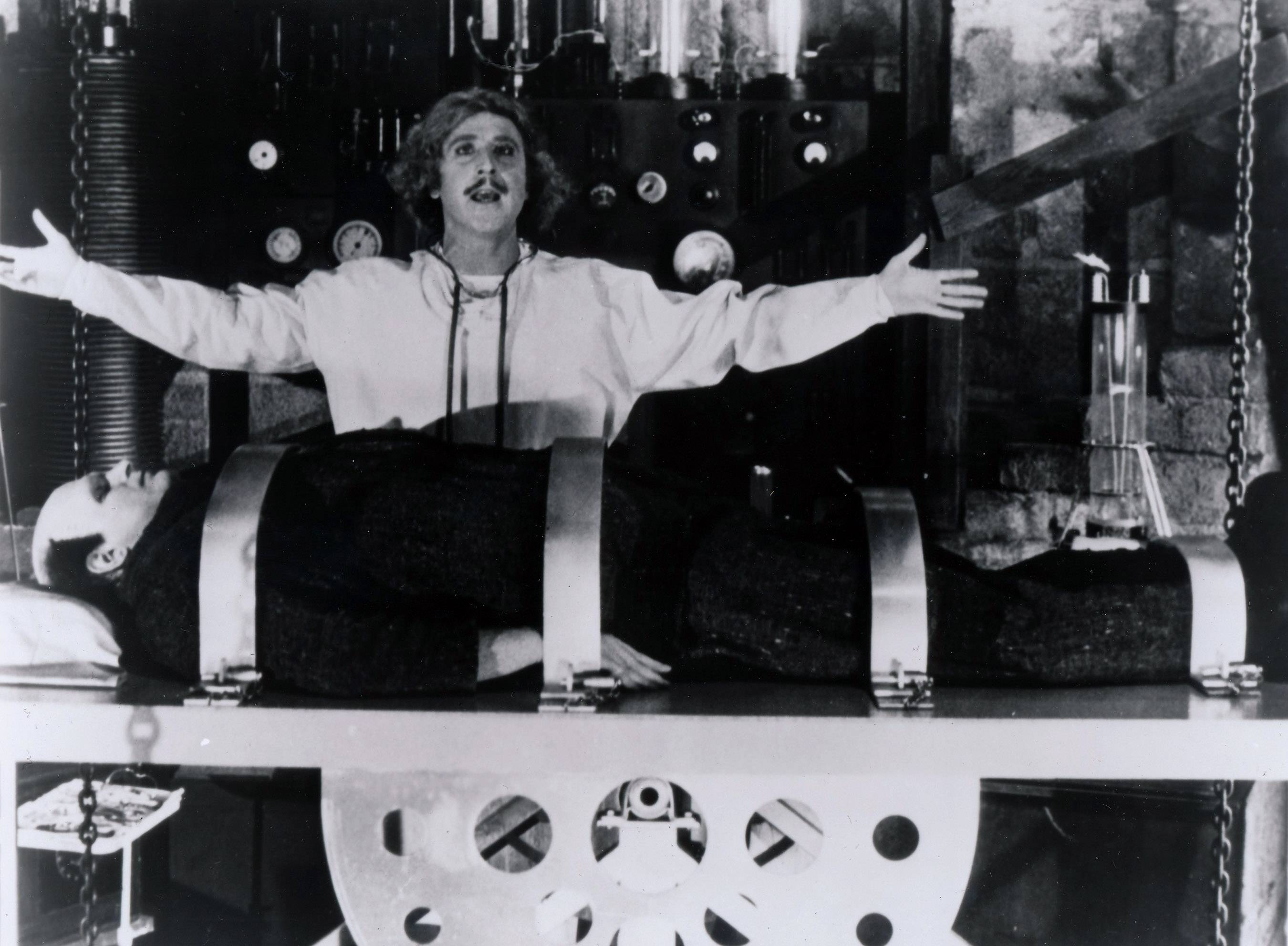 "Gene Wilder stars in ""Young Frankenstein,"" one of his three iconic comedies directed by Mel Brooks, whom the late star called ""my Jewish mother."""