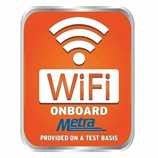Metra is expanding its Wi-Fi service to 50 more cars, which are identified with an orange logo.