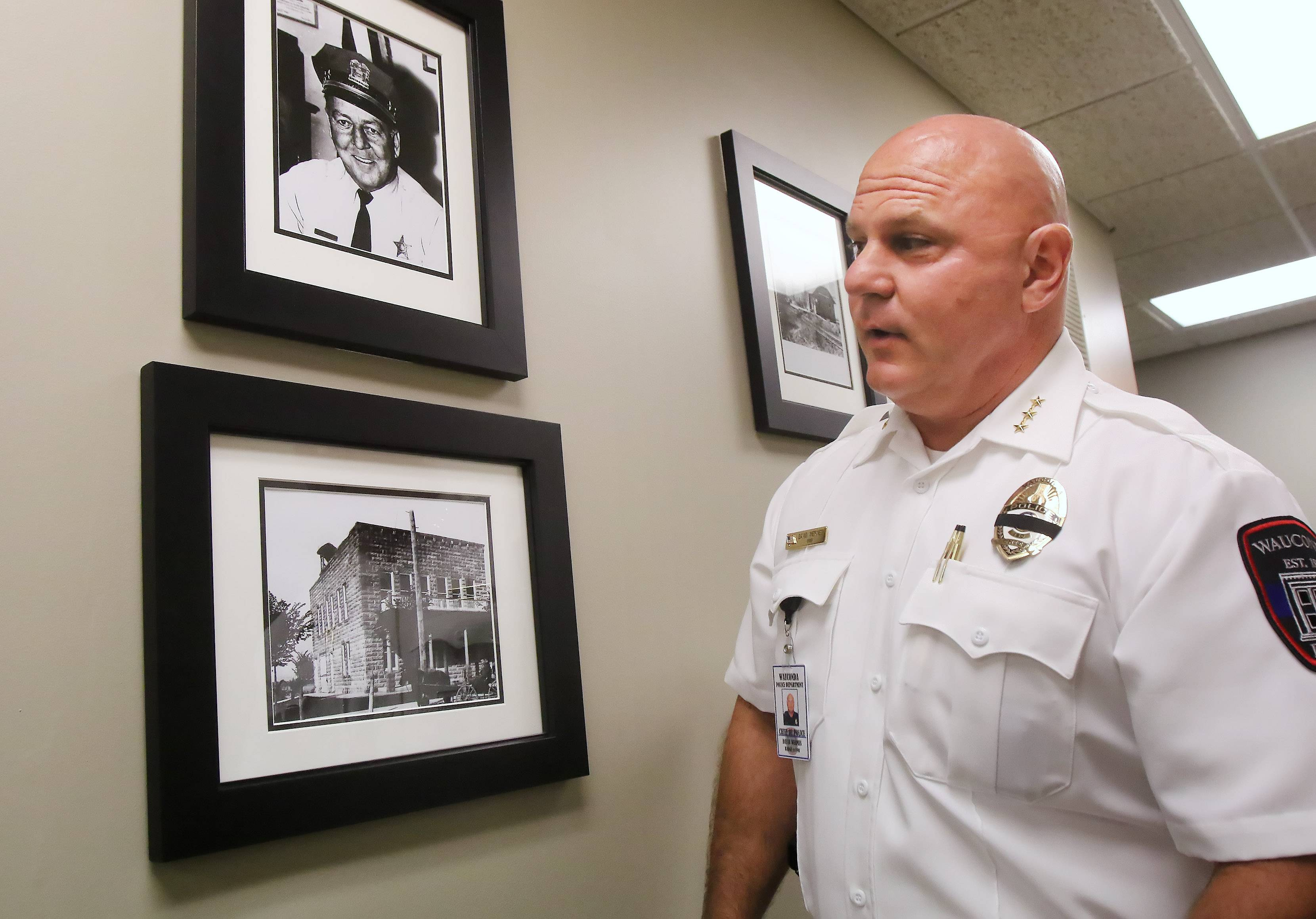 Wauconda Police Chief David Wermes is collecting historical pictures of the police department for a project designed to boost morale.