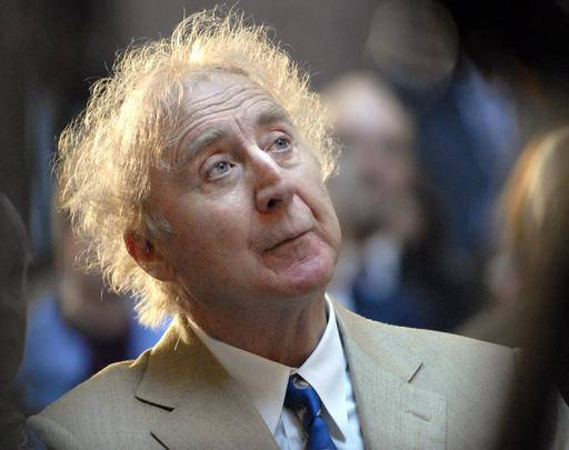 "FILE - In this April 9, 2008 file photo, actor Gene Wilder listens as he is introduced to receive the Governor's Awards for Excellence in Culture and Tourism at the Legislative Office Building in Hartford, Conn. Wilder, who starred in such film classics as ""Willy Wonka and the Chocolate Factory"" and ""Young Frankenstein"" has died. He was 83. (AP Photo/Jessica Hill, File)"