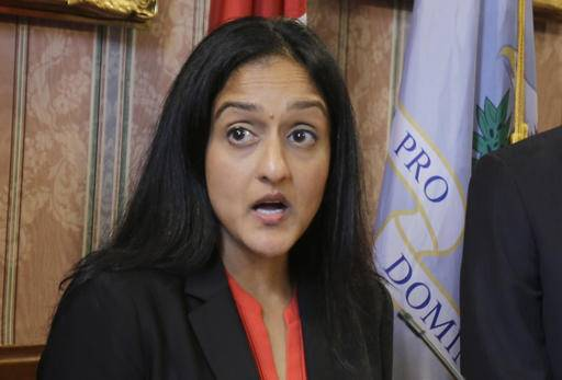 FILE - In this May 26, 2015 file photo, Vanita Gupta, the head of Justice Department's Civil Rights Division, speaks in Cleveland. Justice Department lawyers investigating police agencies for racial discrimination and excessive force are increasingly finding a different problem: officers' interactions with the mentally ill. (AP Photo/Tony Dejak, File)