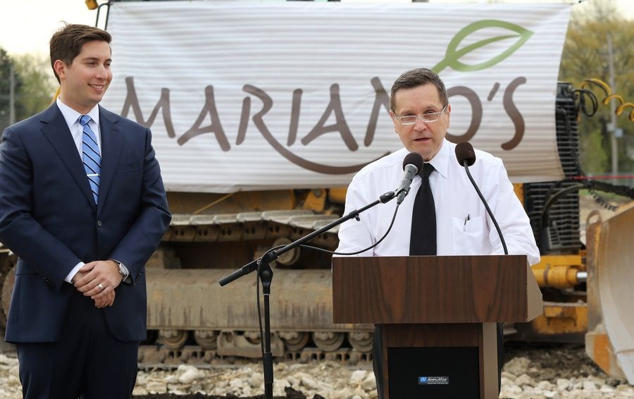 Mariano's Chairman Bob Mariano announced the building of a new Mariano's in Des Plaines last April.