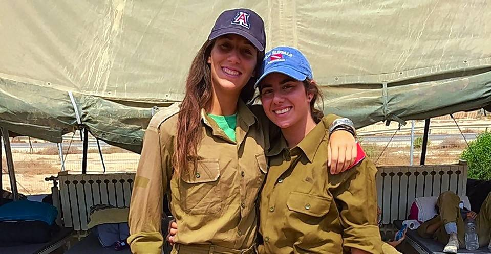 Arielle Shemesh, left, and Mai Sraibman, both of Buffalo Grove, are settling in as they prepare to join the Israel Defense Forces.