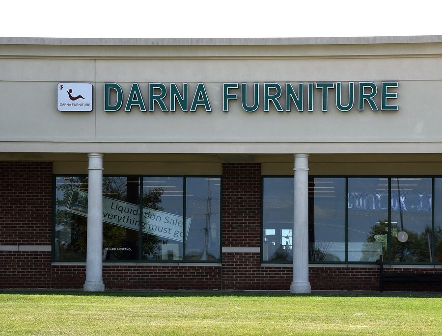 Darna Furniture at the Huntley Outlet Center is the latest store having a liquidation sale, which presumably will add another empty storefront to the largely vacant shopping center.