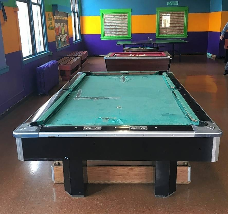 This Is What The Pool Table At The Little Village Boys And Girls Club In  Chicago
