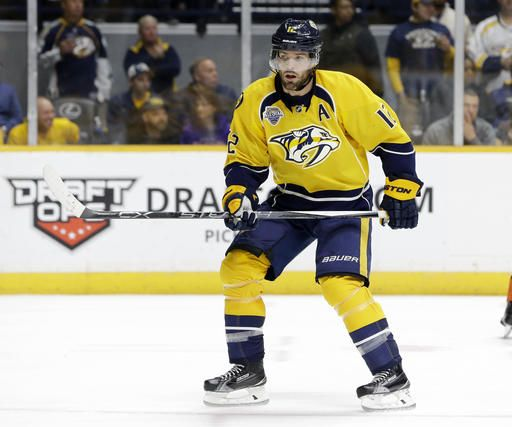 classic fit 04411 8f202 Predators name Mike Fisher 7th captain in franchise history