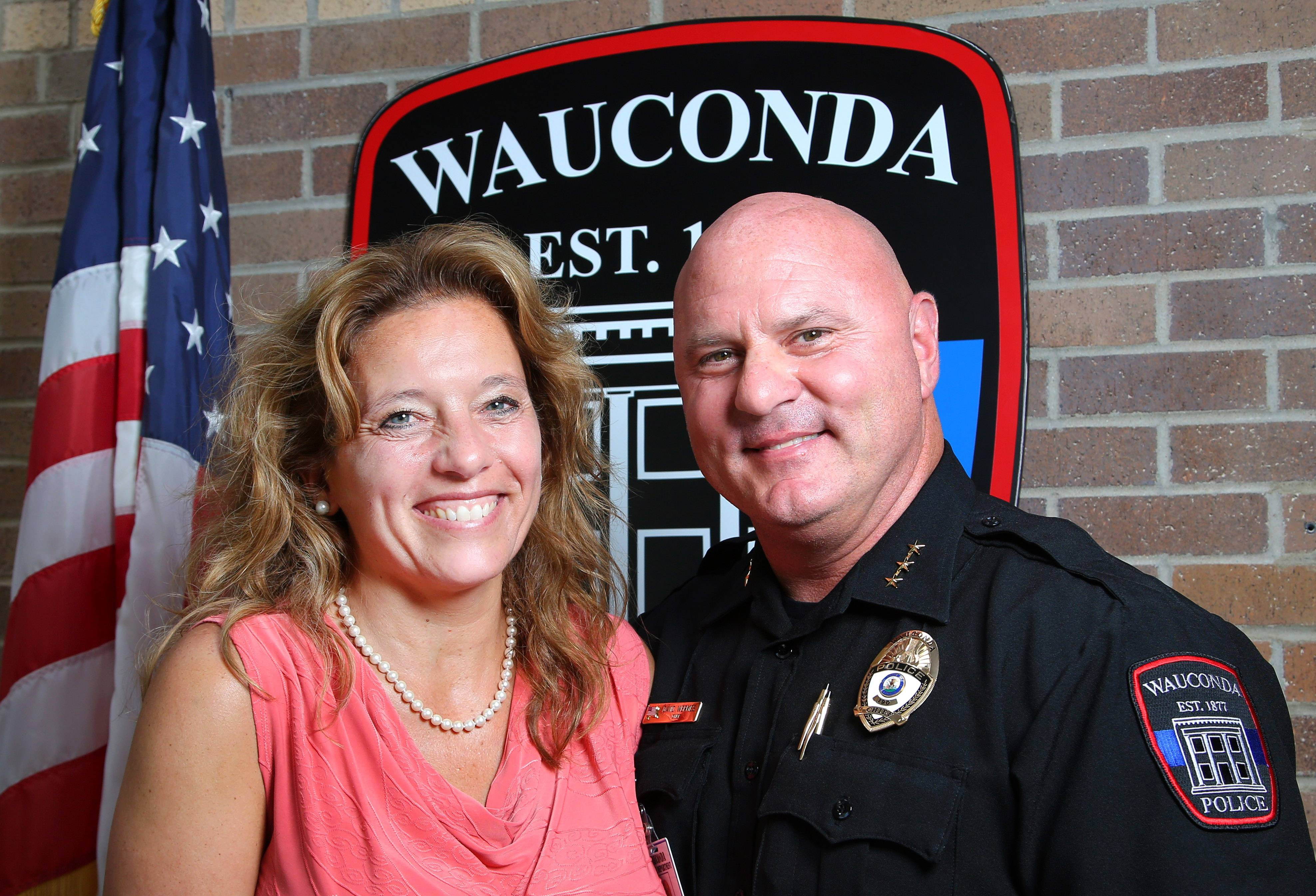 Future Business Leaders of America adviser Wendy Mills, left, and Wauconda Police Chief David Wermes are hoping the club's monthly community dinner will attract officers from all over Lake County. Cops will eat free at Wednesday's event.