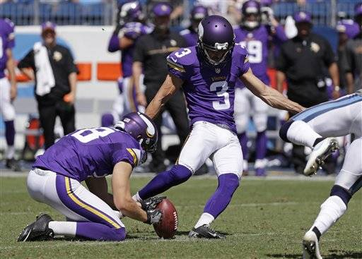 Blair Walsh Misses 3 Field Goals >> Minnesota sticking with Walsh after more misses