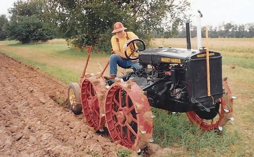 "Jerry Thomas of Batavia gets ready to compete in a previous Big Rock Plowing Match. ""I like the challenge of plowing,"" he says."