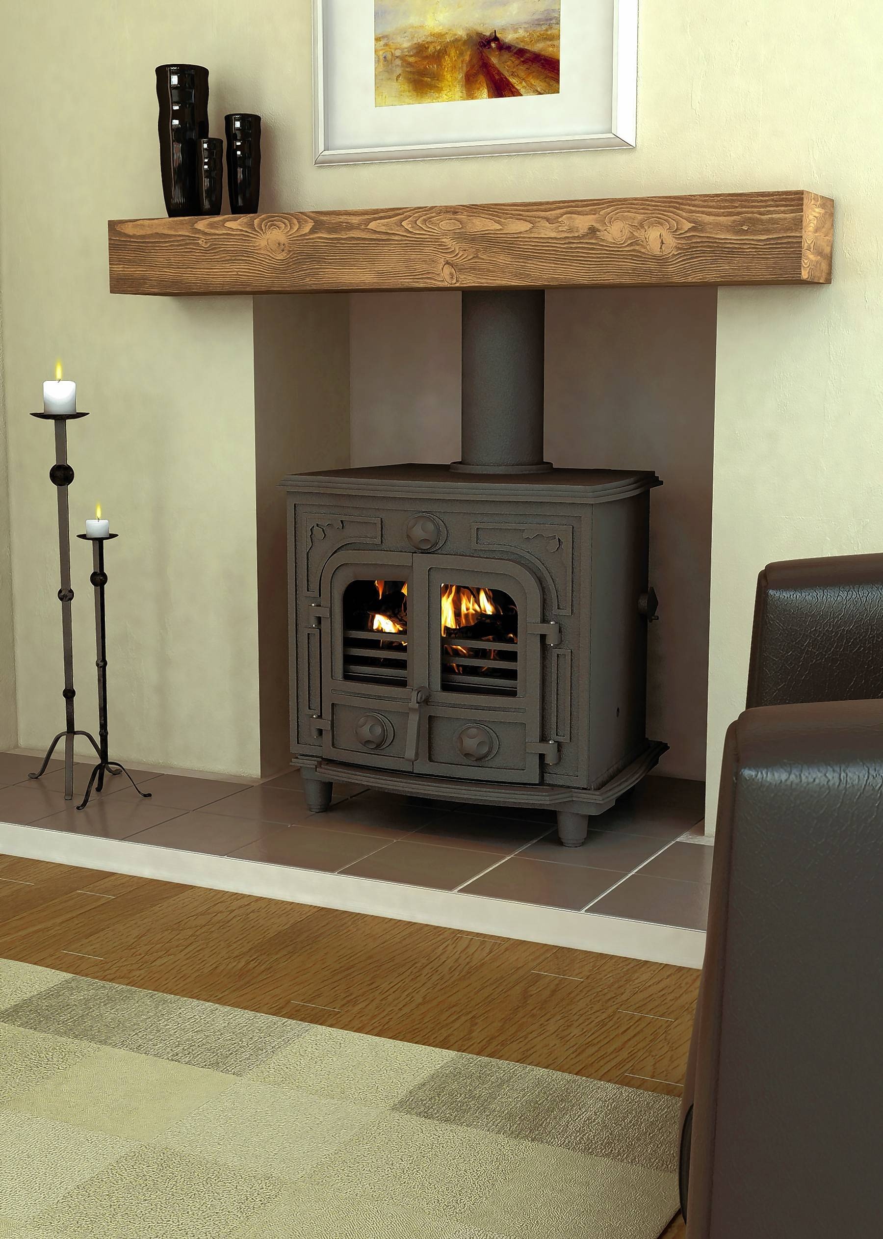Wood stoves are popular in regions where firewood is plentiful and affordable.