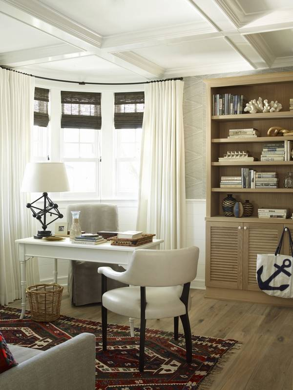 this home office designed by betsy burnham of burnham design in los angeles doubles as a