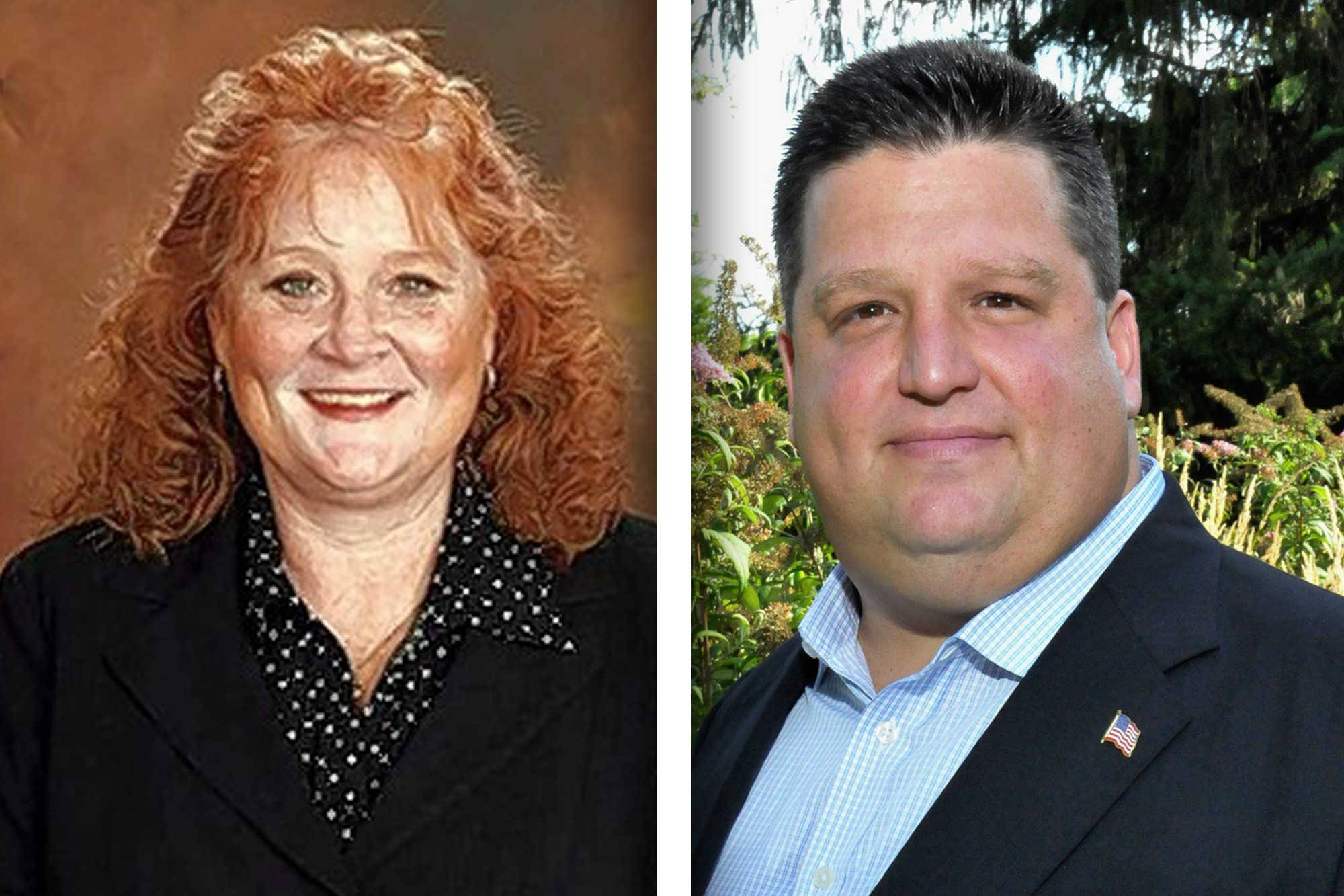 Democrat Laura Murphy, left, and Republican Mel Thillens are candidates for 28th District in the State Senate.