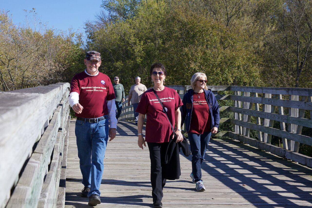 Walkers from Bethlehem Lutheran Church Dundee participate in the 2015 Cardunal CROP Hunger Walk. Join this year's fundraising walk on Oct. 16.