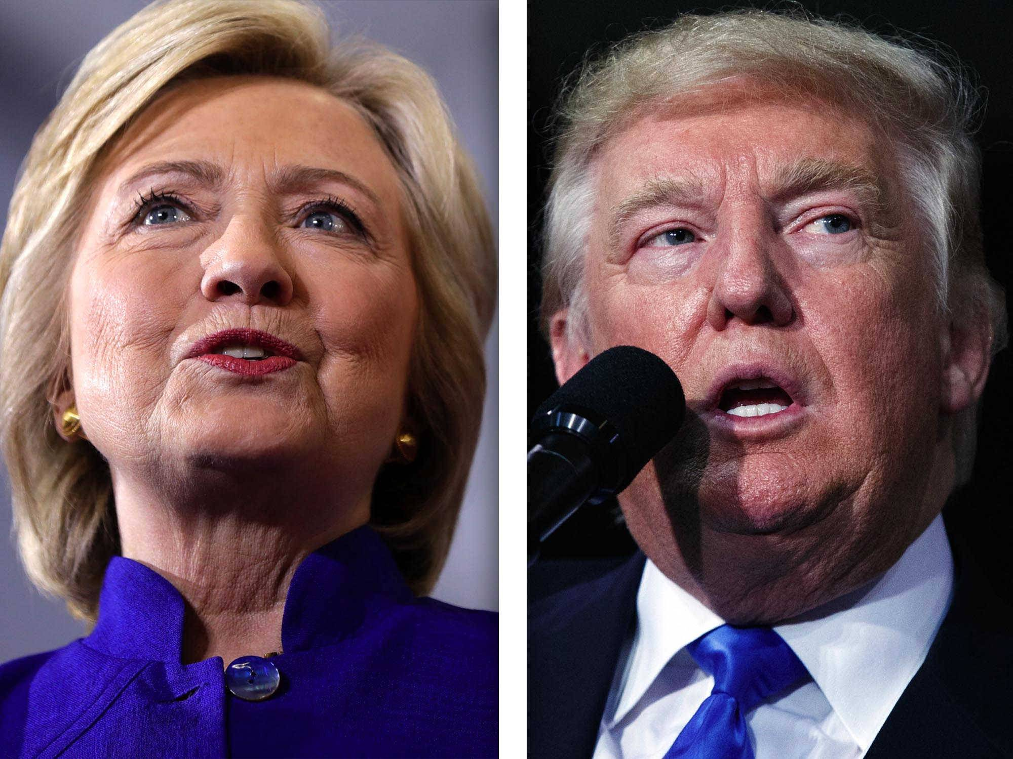 Hillary Clinton, left, and Donald Trump, right, are candidates for President of the United States.