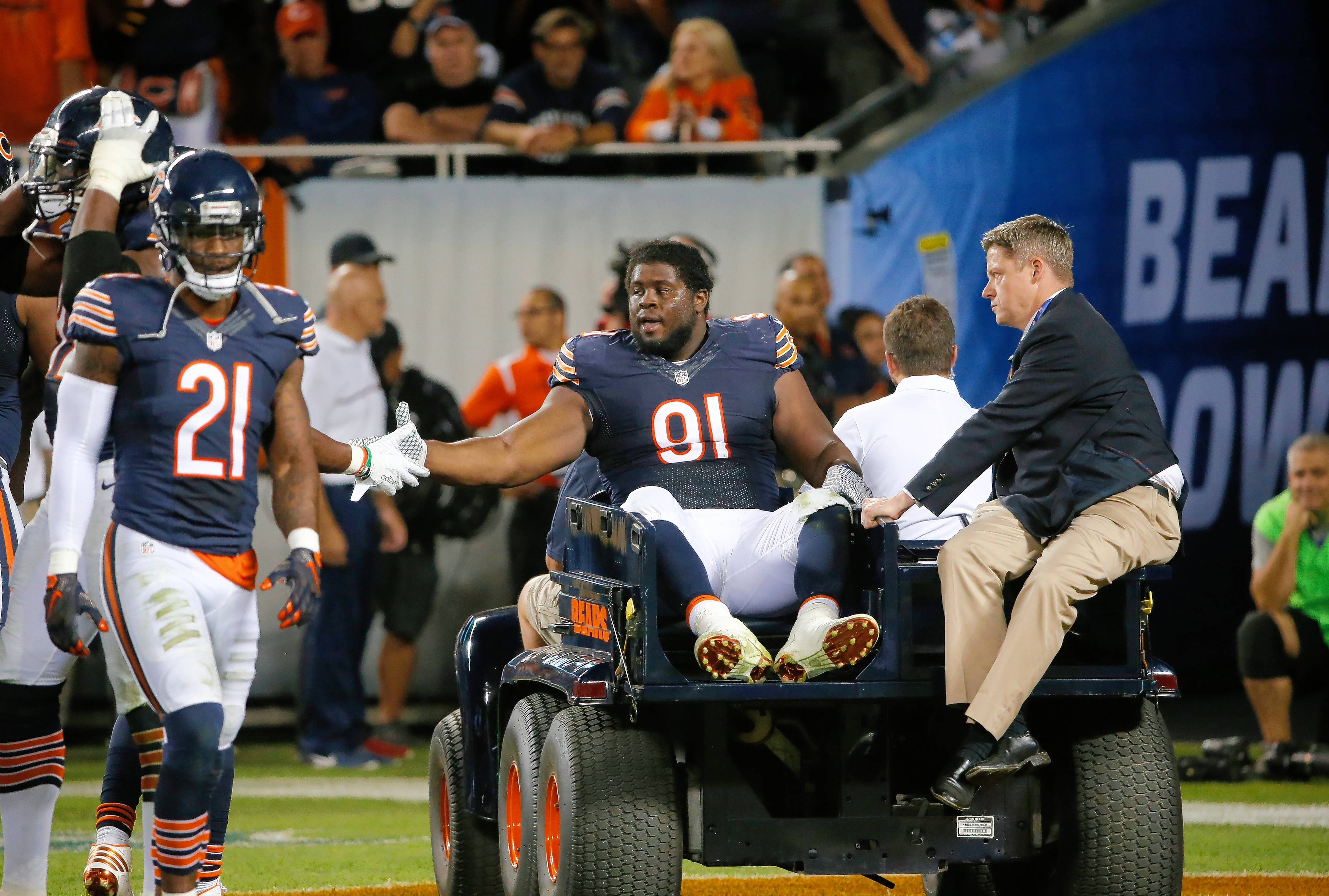 With injuries like that of nose tackle Eddie Goldman, the Bears defense is left shuffling around to try and fill voids.