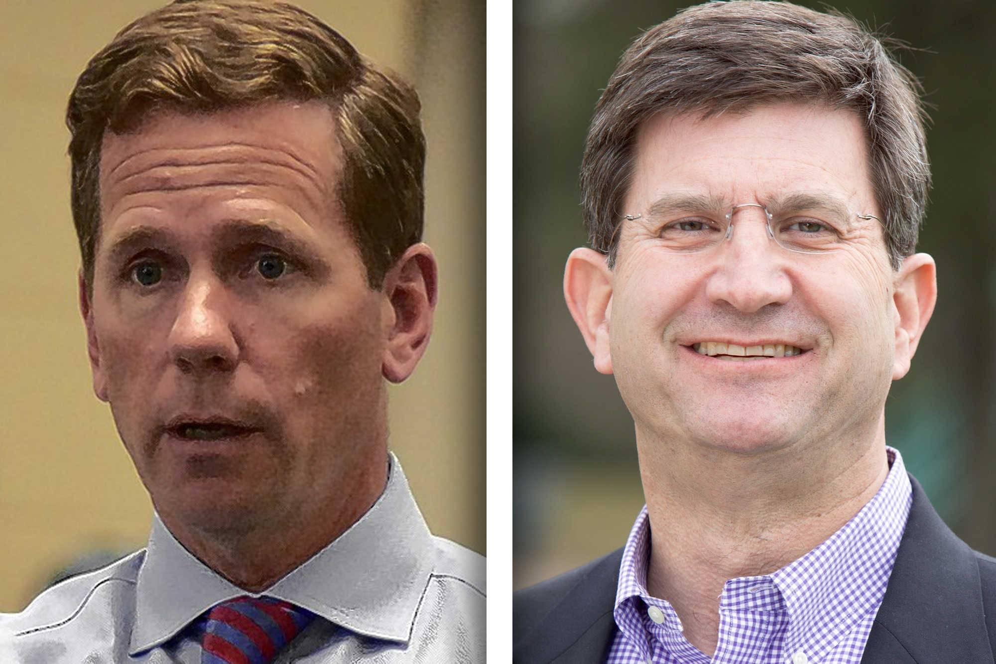Republican U.S. Rep. Bob Dold, left, and Democrat Brad Schneider are candidates for 10th District in the U.S. House