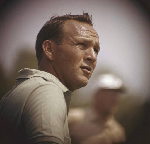 "File-This jan. 28, 1962, file photo shows Arnold Palmer concentrating on his next move during the Lucky International Open at San Francisco's Harding Park. Palmer, who made golf popular for the masses with his hard-charging style, incomparable charisma and a personal touch that made him known throughout the golf world as ""The King,"" died Sunday, Sept. 25, 2016, in Pittsburgh. He was 87. (AP Photo, File)"