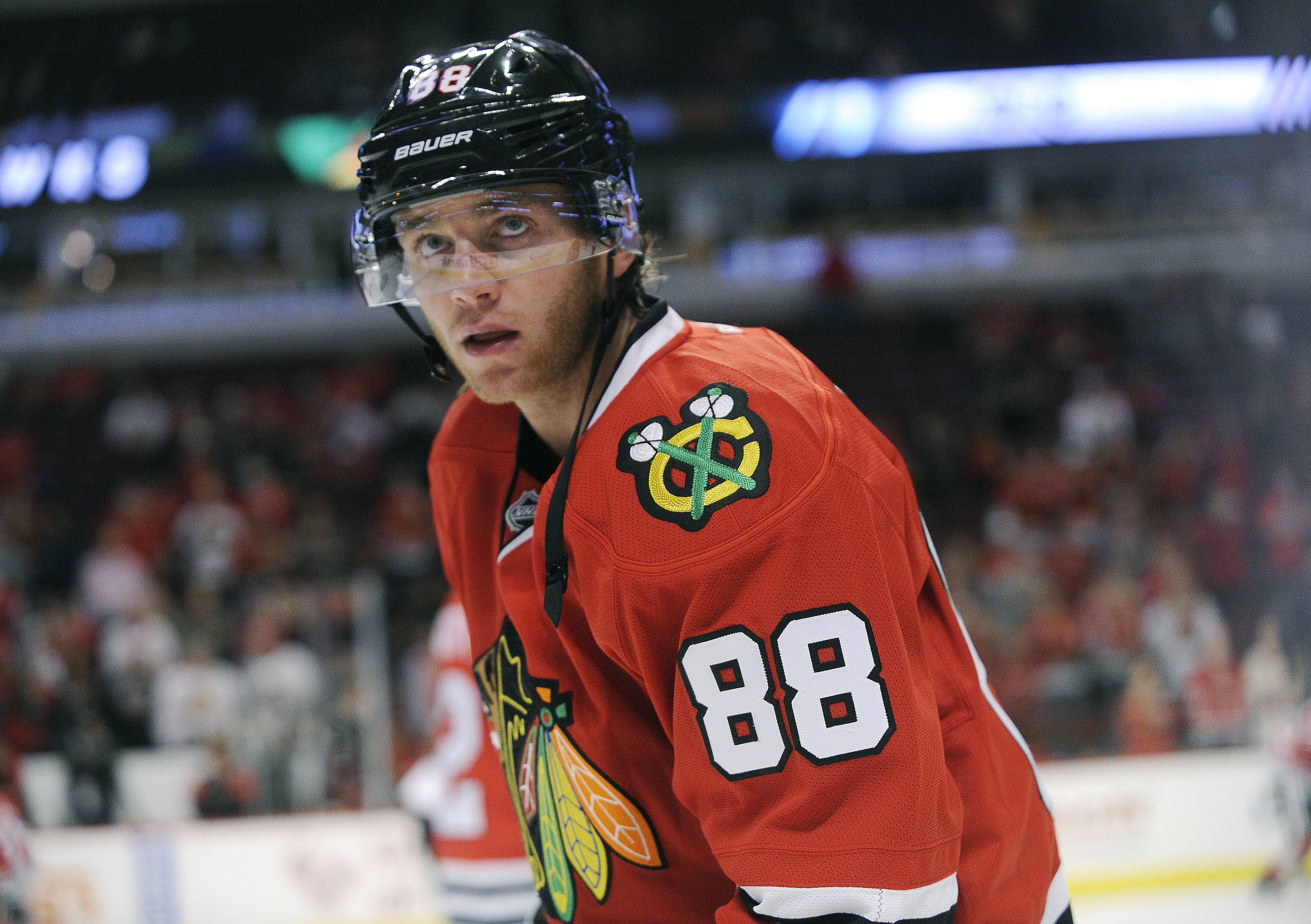 Chicago Blackhawks right winger Patrick Kane (88) has returned from the World Cup of Hockey tournament and is expected to practice with the team on Tuesday.