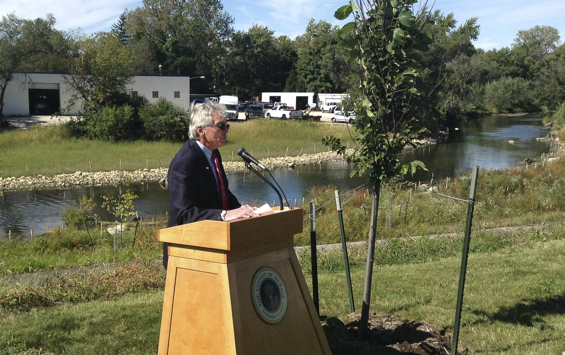 Warrenville Mayor David Brummel says a series of flood control and water quality improvement projects along the West Branch of the DuPage River will benefit residents in the community for decades to come.