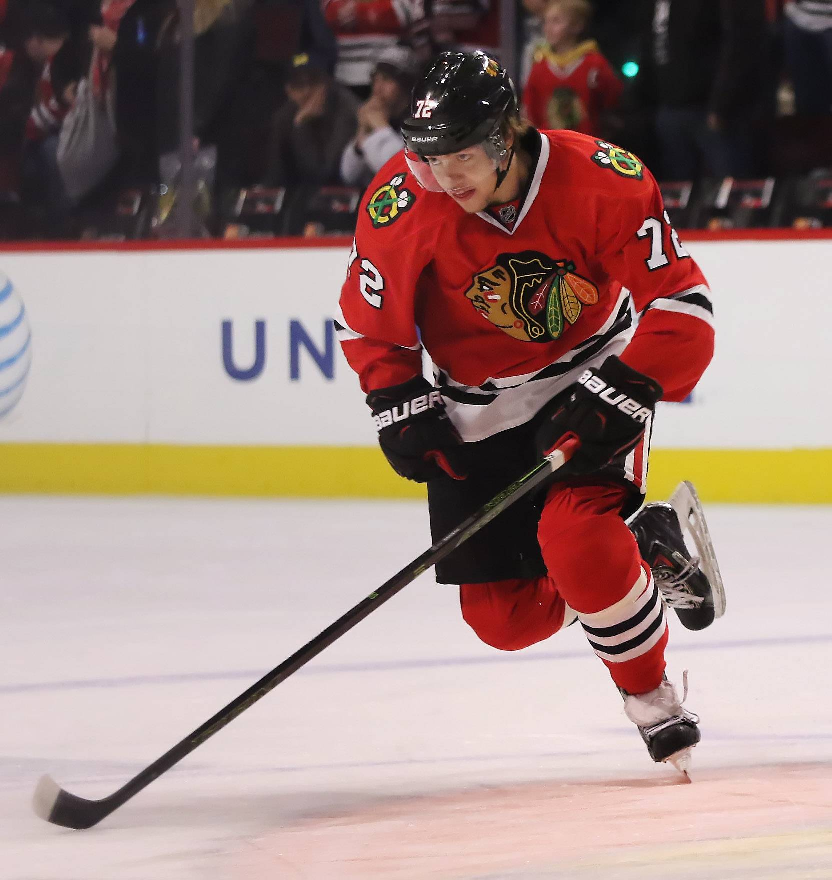 Blackhawks winger Artemi Panarin, the Calder Cup winner as the top rookie last season, would become a restricted free agent if he doesn't sign with the team before the end of this season.