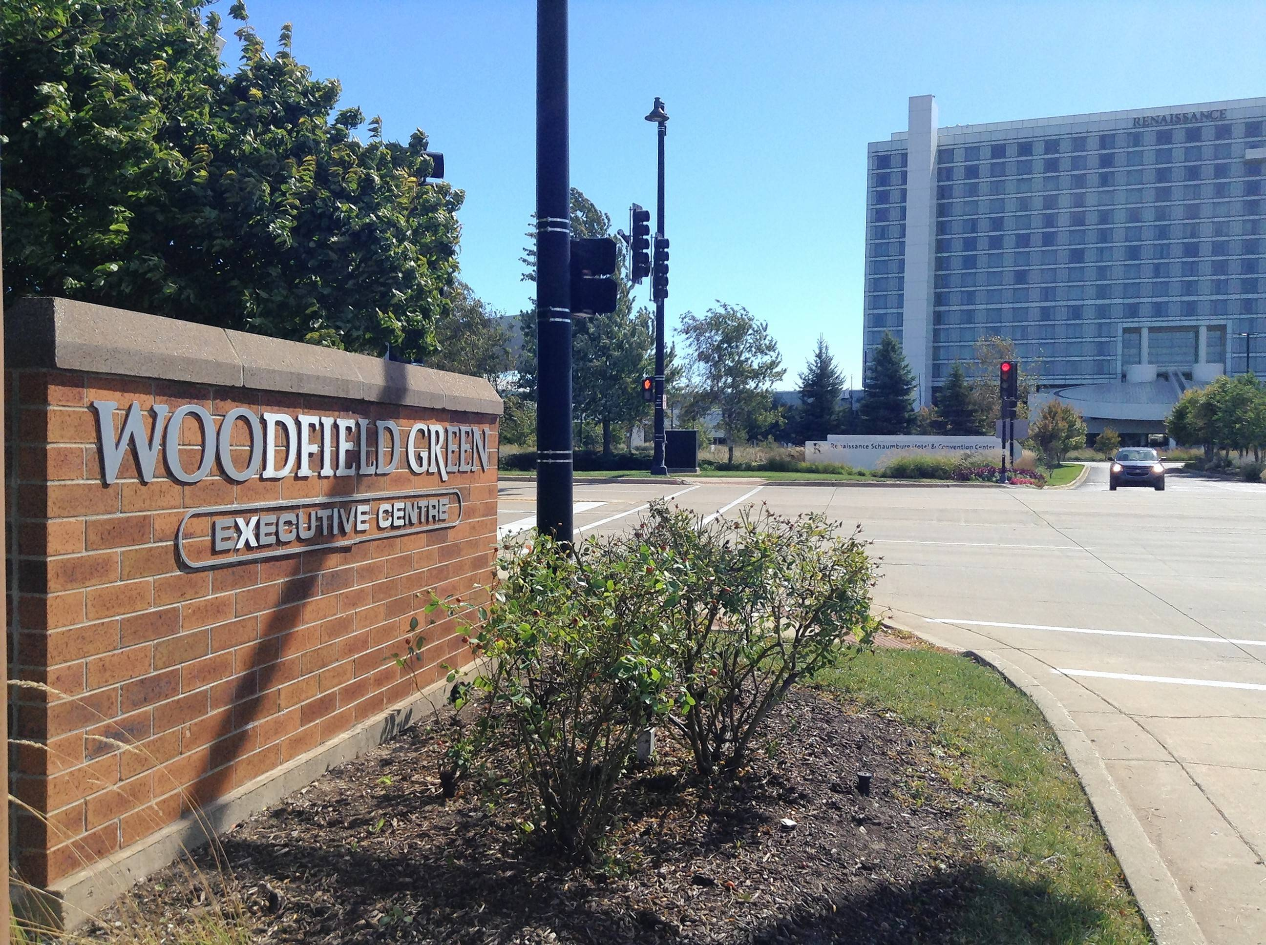 Schaumburg village trustees have offered to buy the one-story office buildings in the Woodfield Green Executive Centre just north of the village's convention center and Renaissance Hotel for a new entertainment district and to reconfigure Thoreau Drive.