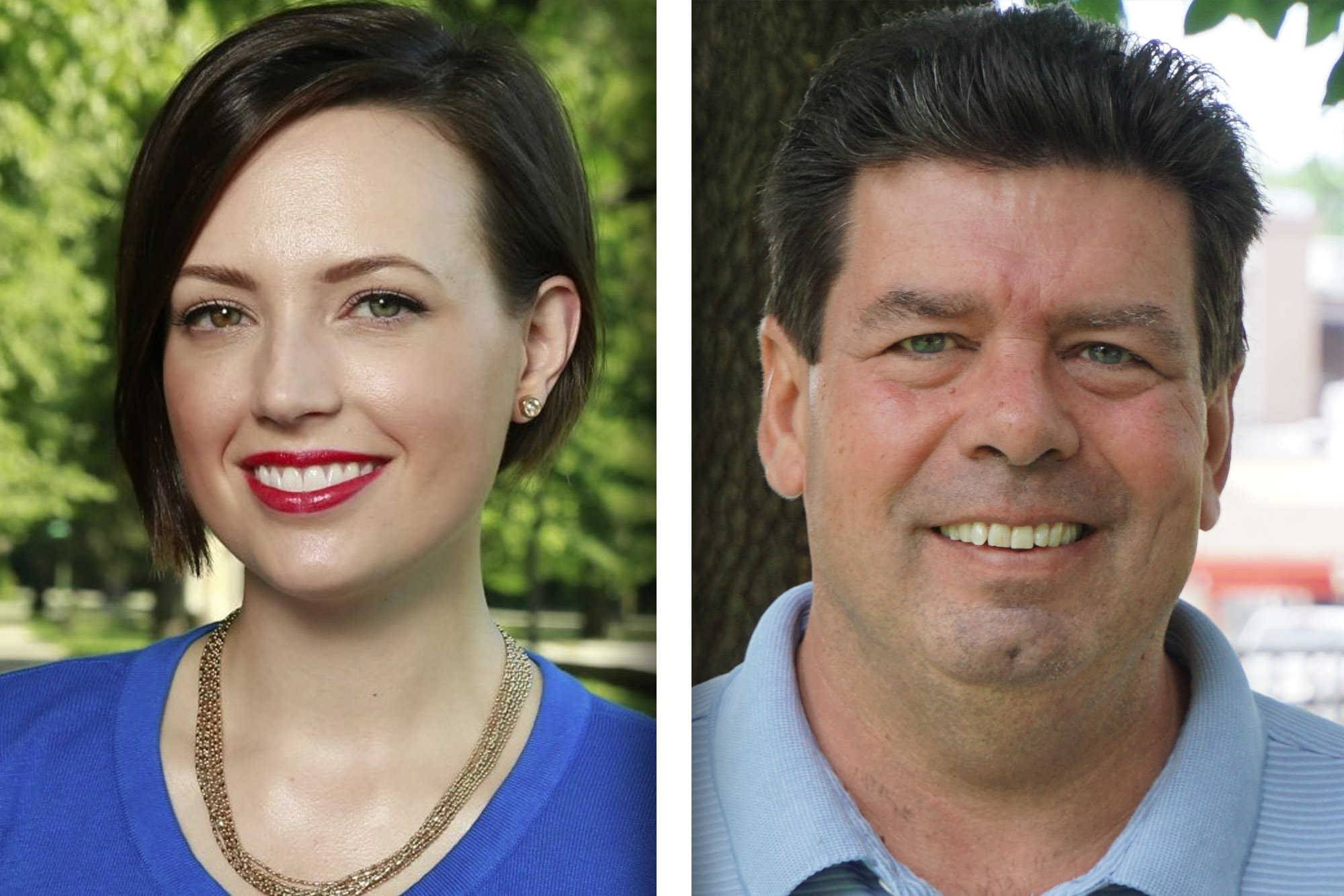 Merry Marwig, left, and Michael McAuliffe are candidates for the 20th District in the State House.