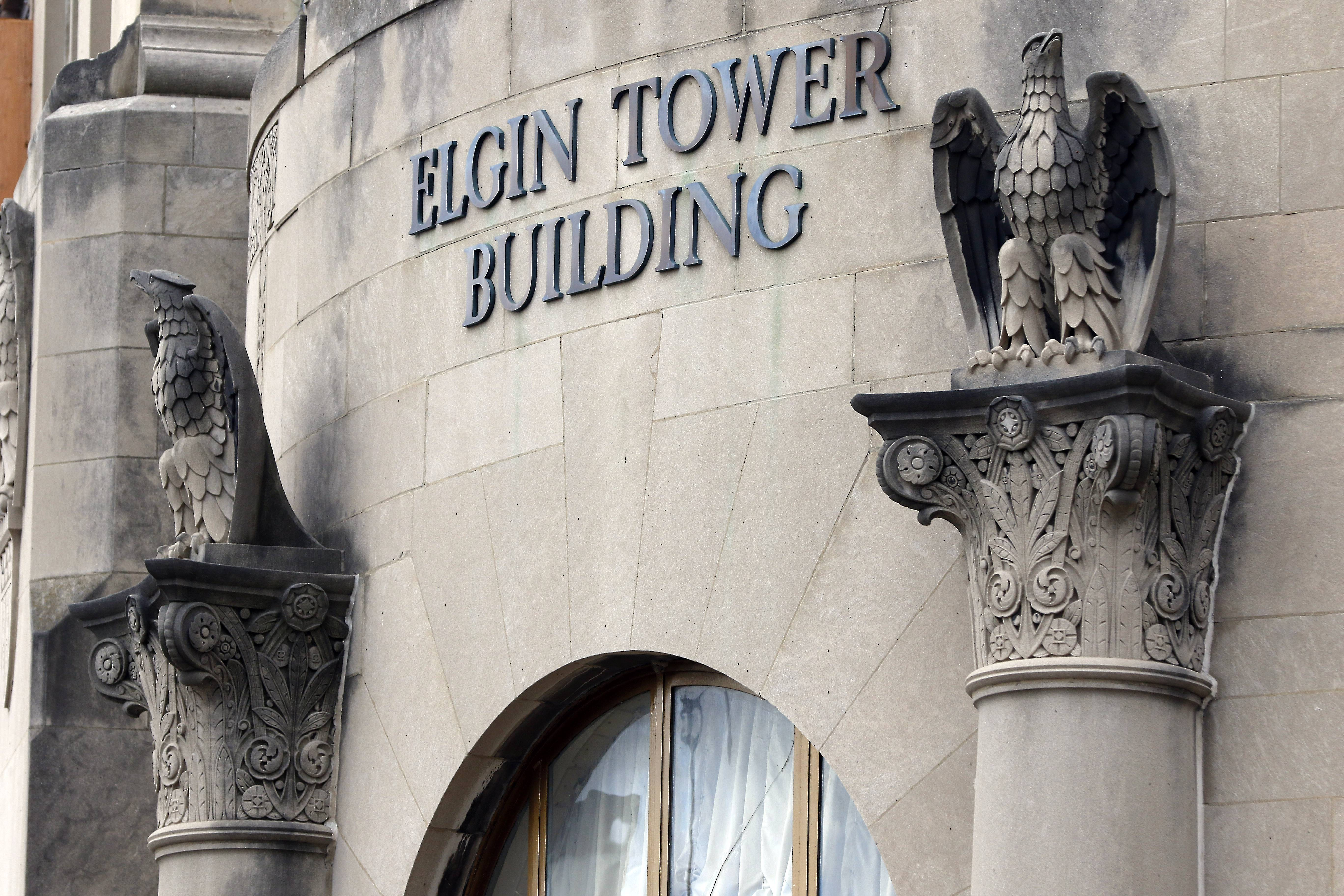 The Elgin Tower Building is being renovated into 44 one- and two-bedroom apartments with rents starting at $915.