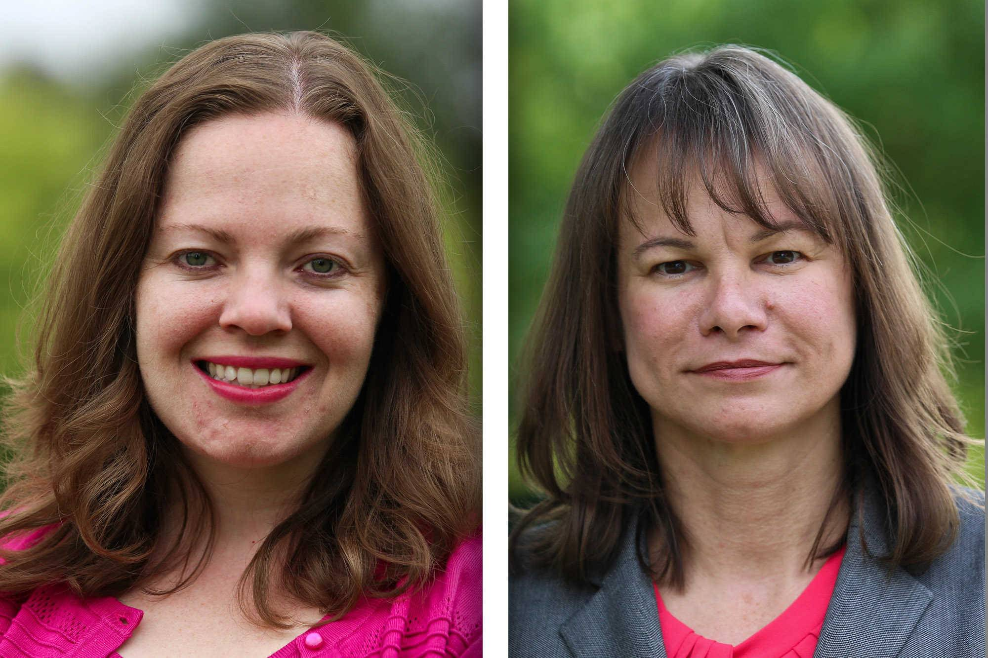 Democrat Cynthia Borbas and Republican Christine Winger are candidates for the 45th Illinois House District seat.