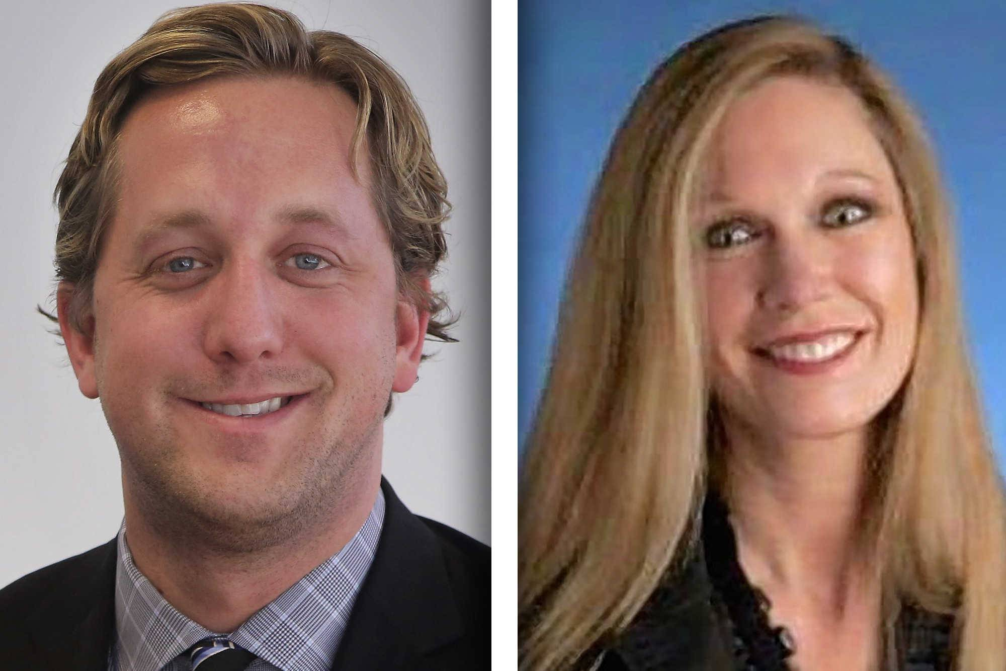 Republican Aaron Lawlor, left, and Democrat Gerri Songer are candidates for District 18 of the Lake County Board