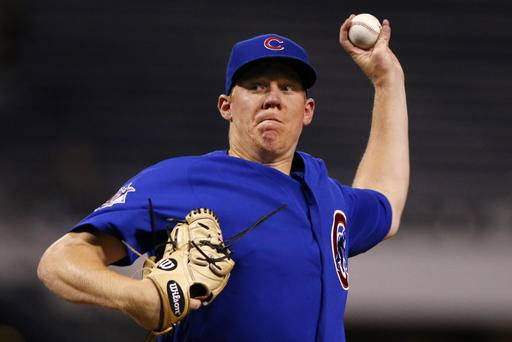 Chicago Cubs starting pitcher Rob Zastryzny delivers in the first inning of a baseball game against the Pittsburgh Pirates in Pittsburgh, Thursday, Sept. 29, 2016. (AP Photo/Gene J. Puskar)