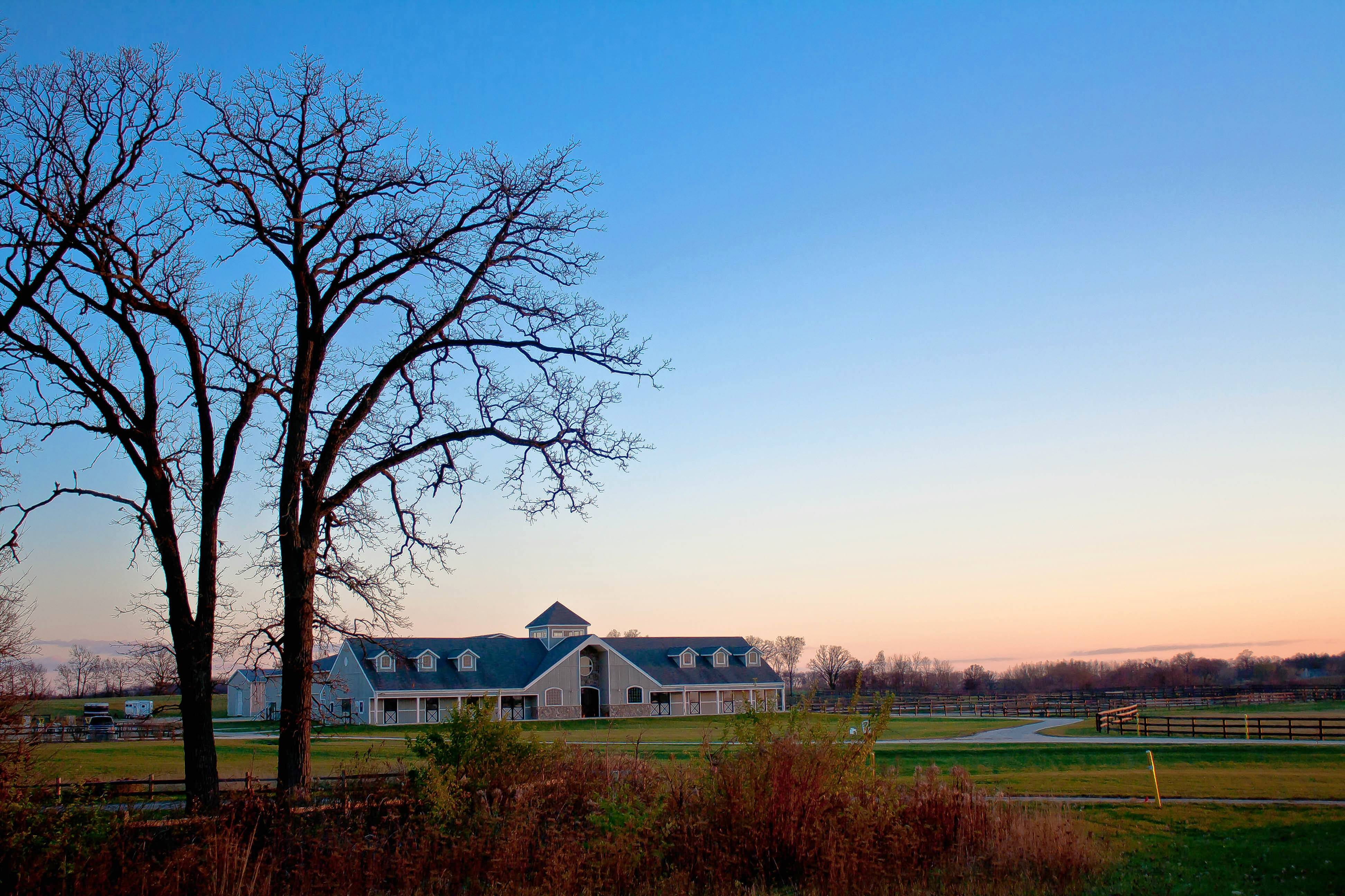The equestrian center at Serosun Farms near Hampshire is part of a 400-acre development that includes 114, one-acre homesites.